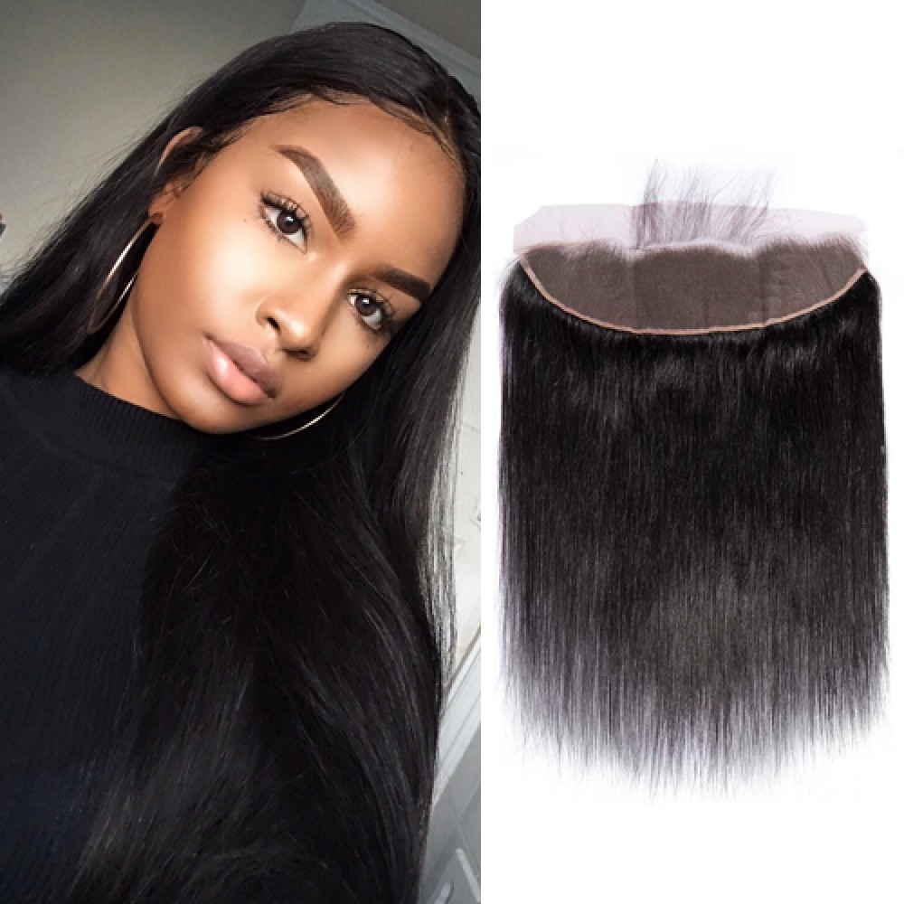 Brazilian Virgin Hair Straight 13*4 Free Part Lace Frontal Closure