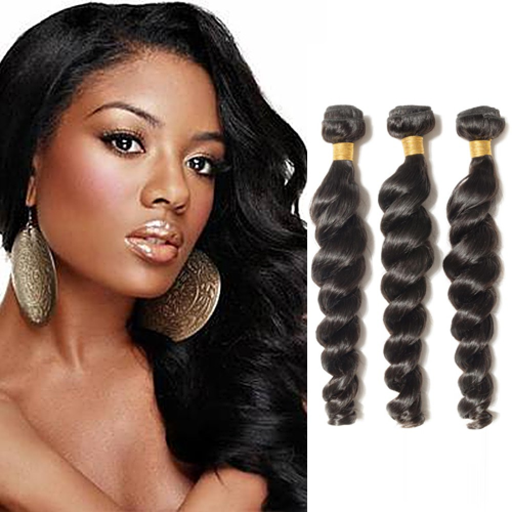 【 Segohair  8A 】3 Bundles Loose Wave Virgin Brazilian Hair 300g