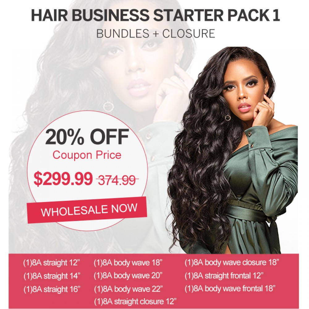 【 EXTRA 20 % OFF $299.99 】Start Hair Business For Wholesale Package Hair Bundles