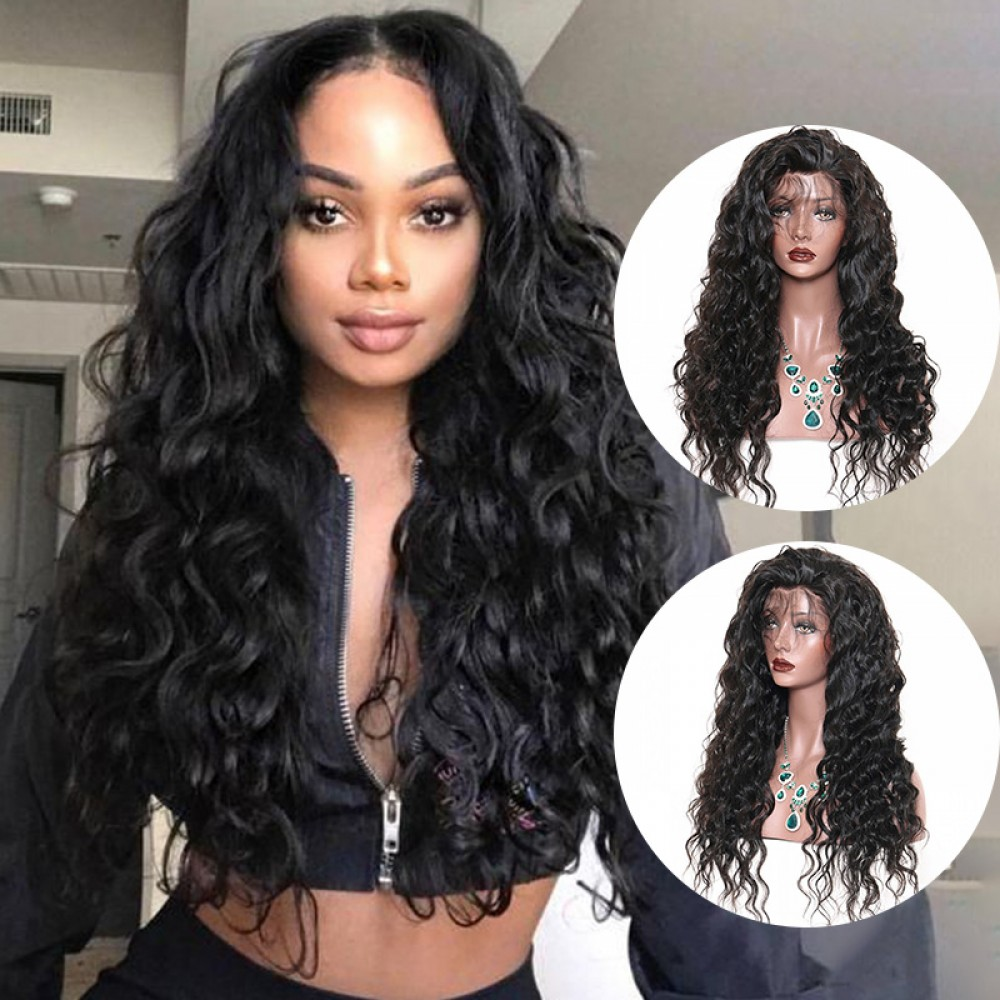 Loose Wave Brazilian Virgin Hair Lace Front Wigs